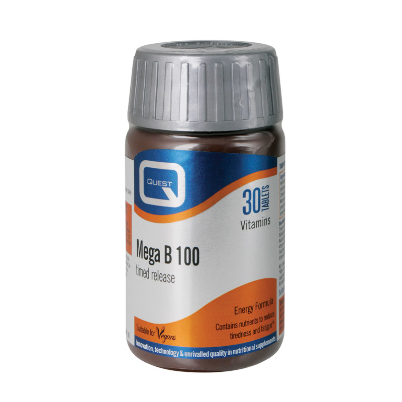 QUEST MEGA B 100 TIMED RELEASE 30tabs