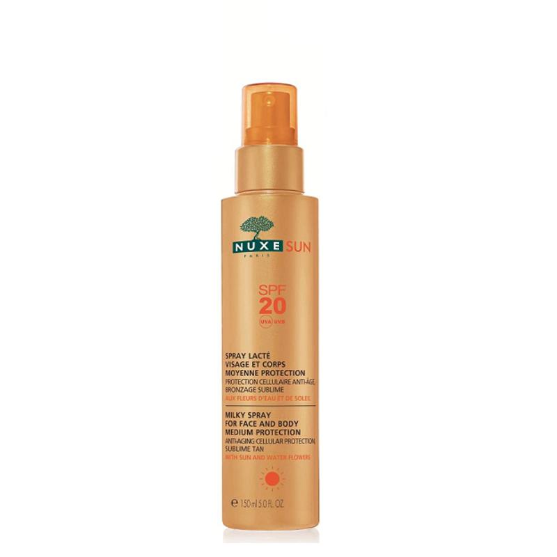 NUXE SUN Milky Spray for Face and Body Γαλάκτωμα για Πρόσωπο & Σώμα SPF20, 150ml