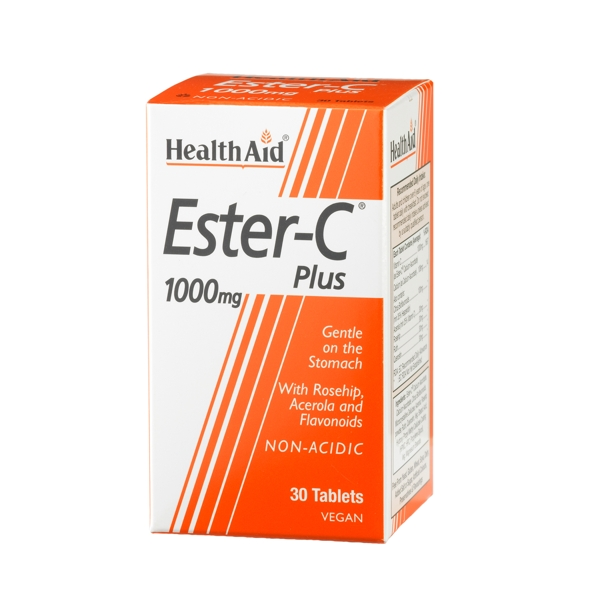 Health Aid ESTER C 1000mg WITH BIOFLAVONOIDS 30tabs