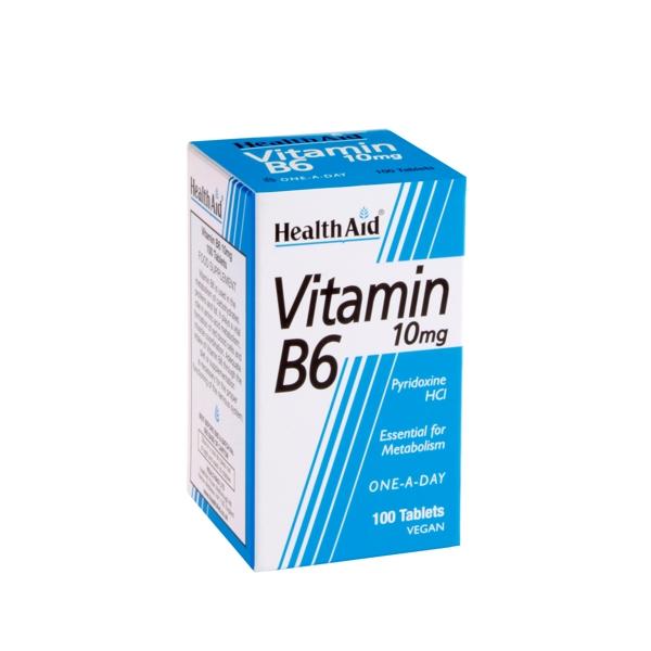 Health Aid VITAMIN B6 Πυριδοξίνη HCI 100mg 90tabs