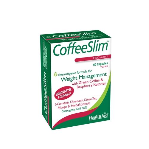 Health Aid COFFEE SLIM Πράσινος Καφές, Κετόνες Ράσμπερυ & Φυτικά εκχυλίσματα 60tabs