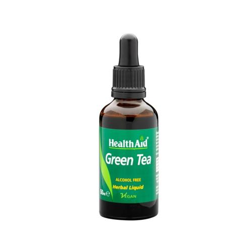 Health Aid Green Tea Πράσινο Τσάι liquid 200mg 50ml