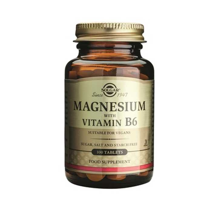 SOLGAR MAGNESIUM + Vitamin B6 tabs 100tabs