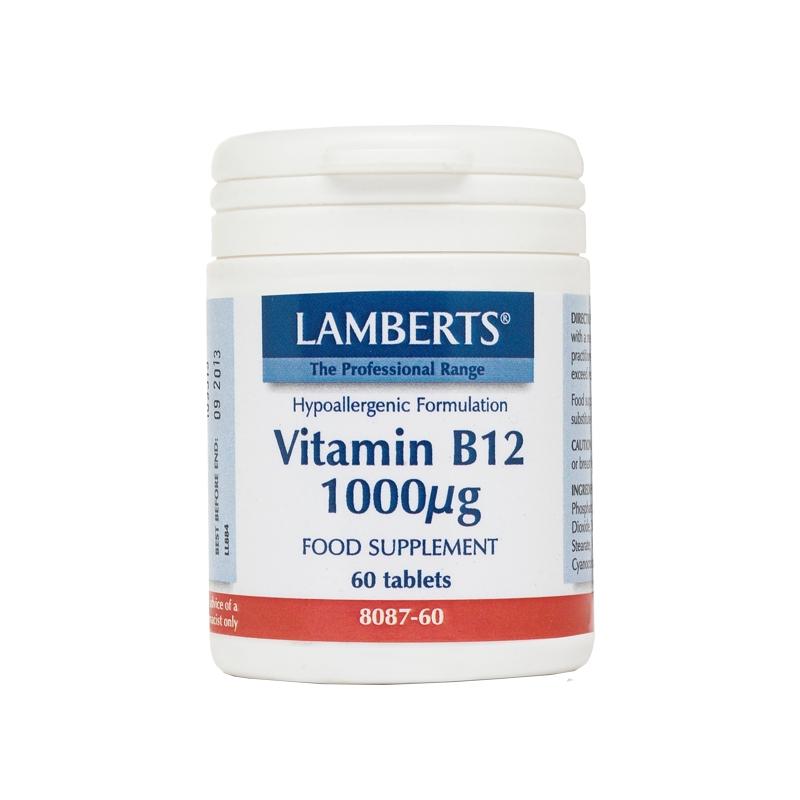 Lamberts Vitamin B12 1000μg 60tabs