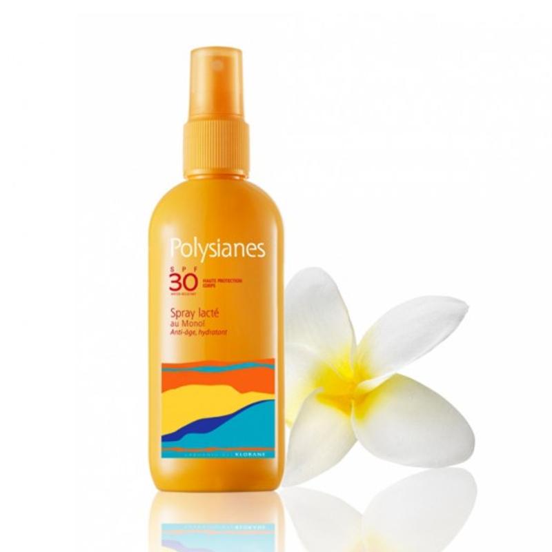 POLYSIANES Spray Lacte SPF30 au Monoi 200ml