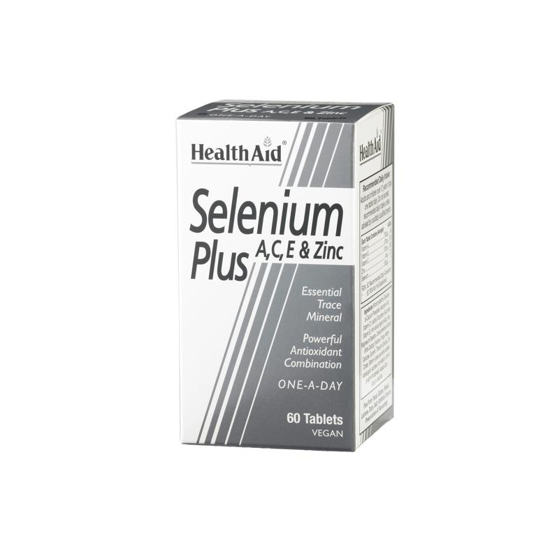 HEALTH AID Selenium Plus 200μg A,C,E & Zinc 60tabs