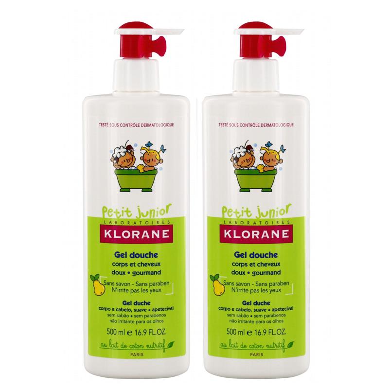 Klorane Petit Junior Shower Gel with Smooth Pear Fragrance  Σώμα & Μαλλιά (2ο ΠΡΟΪΟΝ -50%)  2x500 ml