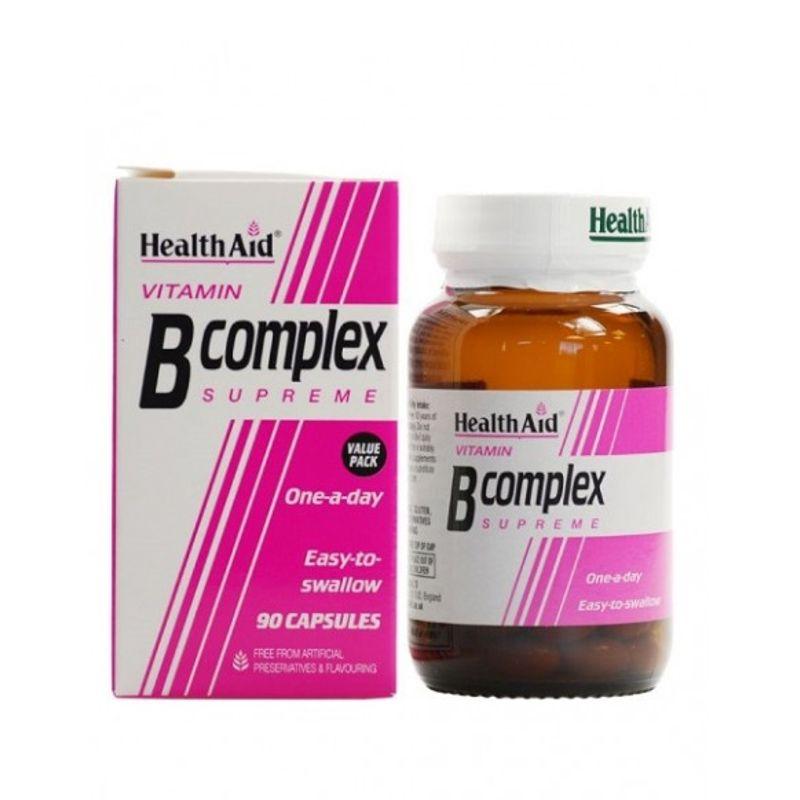 Health Aid VITAMIN B Complex supreme Σύμπλεγμα Βιταμινών Β 90caps