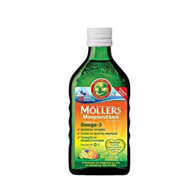 MOLLERS Μουρουνέλαιο (Cod Liver Oil) Tutti Frutti Flavour 250ml