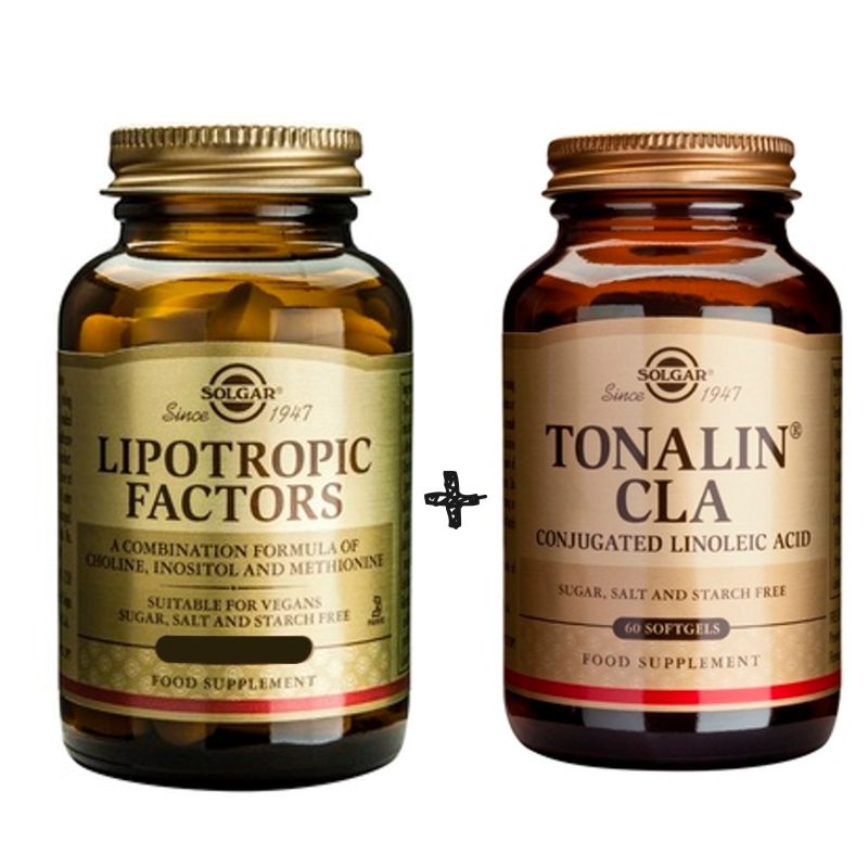 SOLGAR LIPOTROPIC FACTORS 100tabs+ SOLGAR TONALIN CLA 60caps