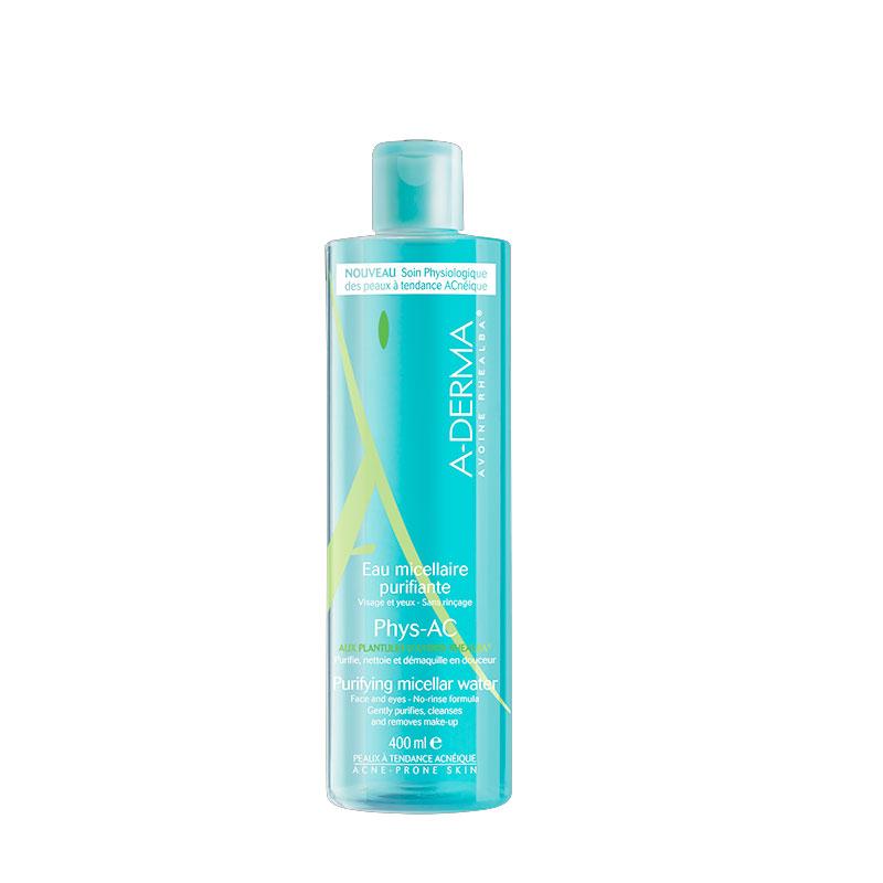 A-derma Phys-Ac Eau micellaire purifiante - Εξυγιαντικό νερό καθαρισμού με μικύλλια 400ml γιά λιπαρά μικτά δέρματα