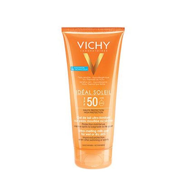 VICHY Ideal Soleil SPF50 Έξτρα Απαλό Αντηλιακό Γαλάκτωμα - Gel για Προσώπο & Σώμα 200ml