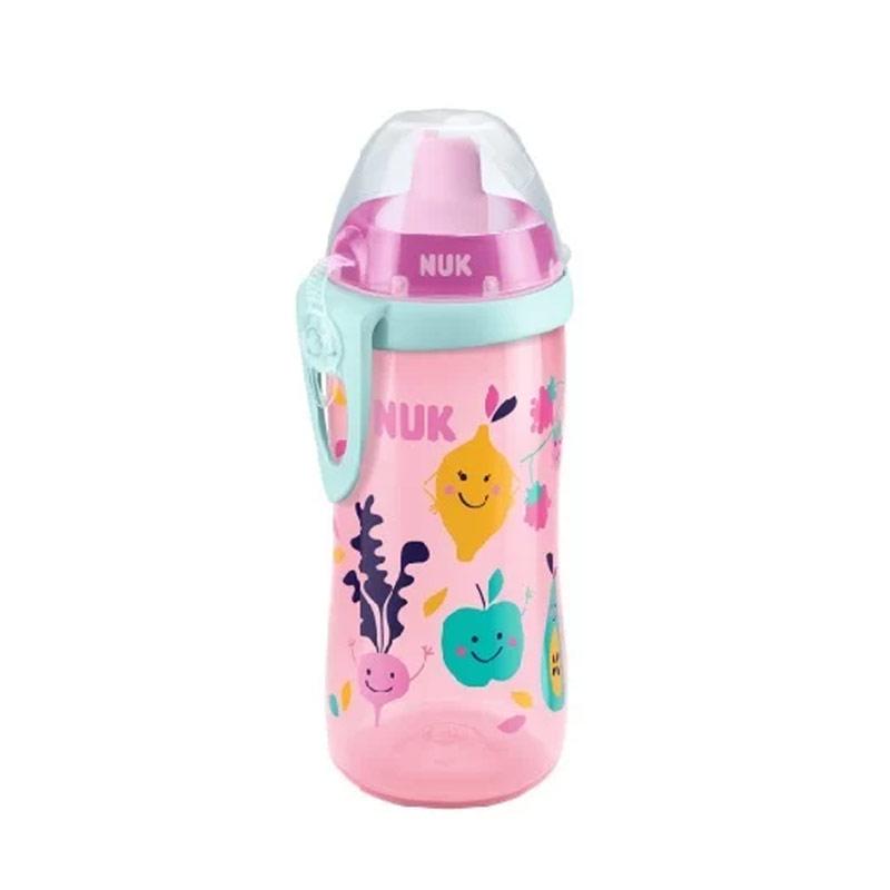 Nuk Παγουράκι Flexi Cup με Μαλακό Καλαμάκι 24M+ 300 ml (ροζ)