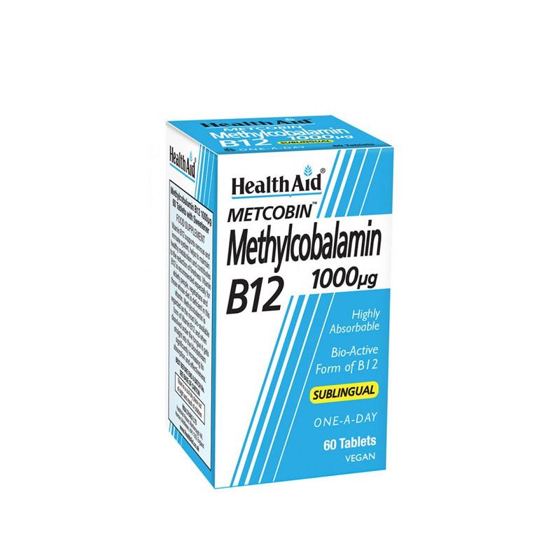 Health Aid Metcobin Methycobalamin B12 1000µg  60 sublingual tabs
