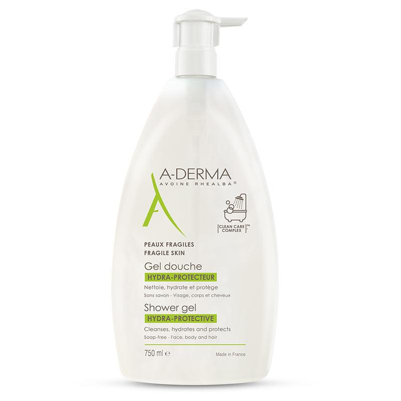 A-Derma Shower Gel Hydra-Protective  Ευαίσθητες Επιδερμίδες 750ml