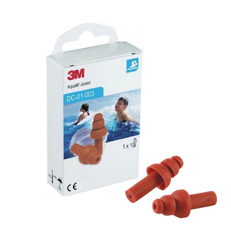 3M Aquafit Earplugs Junior Επαναχρησιμοποιήσιμες Αδιάβροχες Παιδικές Ωτοασπίδες 1 ζευγάρι με Θήκη