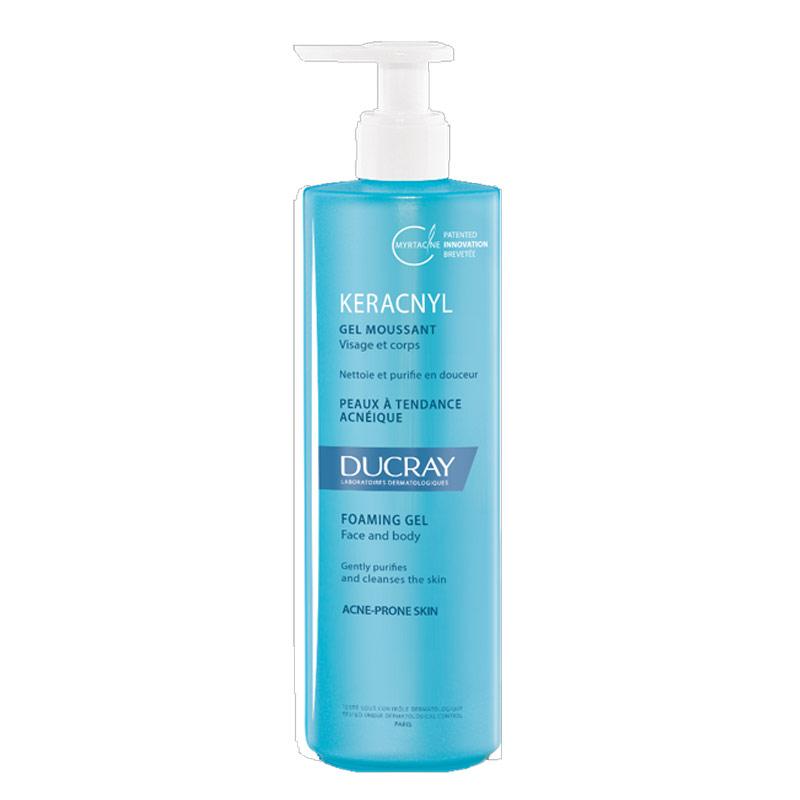 Ducray Keracnyl Gel Moussant 400ml – Απαλό ζέλ καθαρισμού για πρόσωπο – σώμα