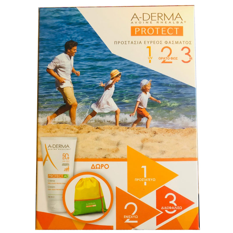 A-Derma Promo με Protect AD Cream SPF50+ 150ml & & Δώρο Παιδικός Σάκος