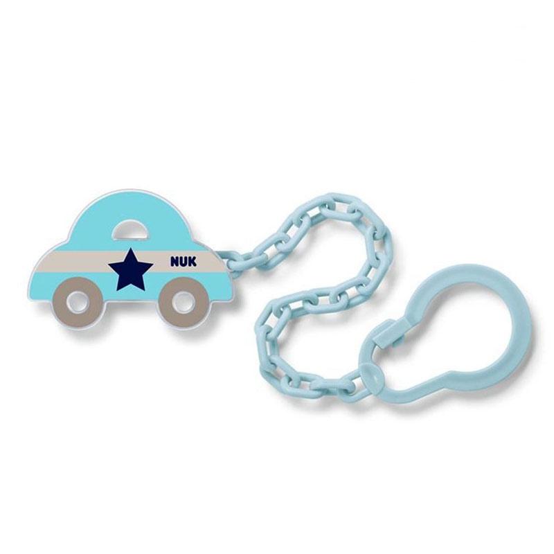 Nuk Αλυσίδα Πιπίλας 0+ μπλε Αυτοκίνητο 1 τμχ