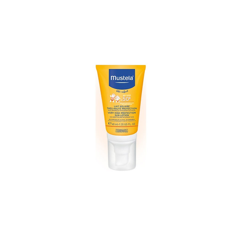 MUSTELA Sun Face Lotion SPF50+ Αντηλιακή Προσώπου για Βρέφη/Παιδιά 40ml