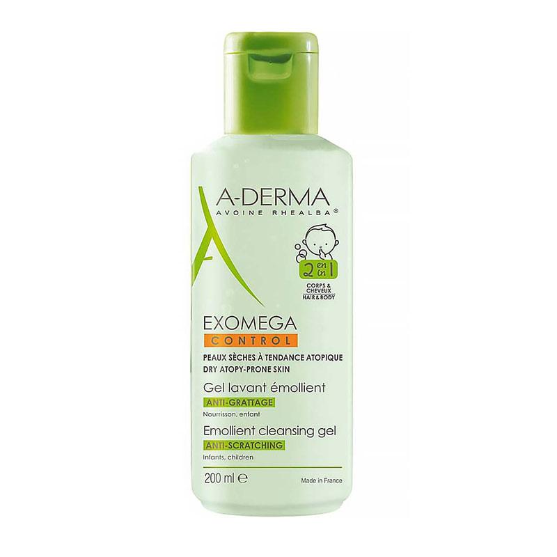 A-Derma Exomega Control Gel Lavant Emollient 2 en 1 200ml