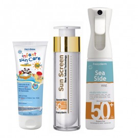 FREZYDERM ΠΑΚΕΤΟ με FREZYDERM SUN CARE INFANT SUN CARE SPF50 (100ml) + FREZYDERM SEA SIDE DRY-MIST SPF50 300ml+FREZYDERM SUN SCREEN VELVET FACE SPF50 (50ml)