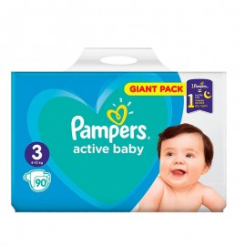Pampers Active Baby No3 Giant (6-10 Kg) 60Τμχ