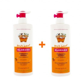 Klorane Petit Junior Shampoo with Peach Fragrance  (-50% ΤΟ ΔΕΥΤΕΡΟ ΠΡΟΪΟΝ) 2x500 ml