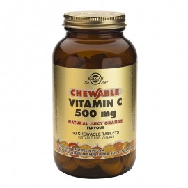 SOLGAR VITAMIN C 500mg chewable 90tabs (πορτοκάλι)