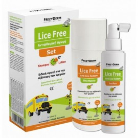 FREZYDERM LICE FREE SET (SHAMPOO 125ml LOTION 125ml ΧΤΕΝΑ)
