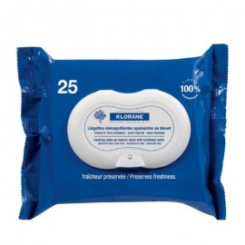 KLORANE BLEUET Make Up Remover Biodegradable wipes 25pic