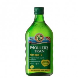MOLLERS Μουρουνέλαιο (Cod Liver Oil) Lemon Flavour 250ml