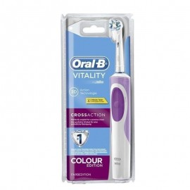 ORAL B VITALITY 2D Cross Action Colour Edition Ηλεκτρική Οδοντόβουρτσα σε Ροζ Χρώμα 1pic