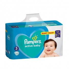 Pampers Active Baby No3 Giant (6-10 Kg) 108Τμχ