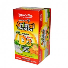 Natures Plus ANIMAL PARADE Vitamin D3 500IU 90chew.