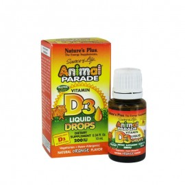 Natures Plus Animal Parade Vitamin D3 Drops 200iu 10ml