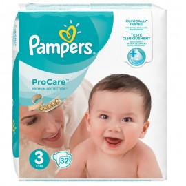 Pampers Procare Premium Protection No.3 (Midi) 5-9 kg 32 τεμάχια