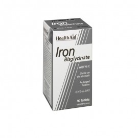 Health Aid Iron Bisglycinate with Vit.C. Σίδηρος Δισγλυκινικός 90tabs