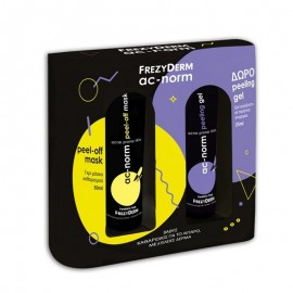 FREZYDERM Promo Pack AC-NORM Peel Off Mask 50ml + ΔΩΡΟ Peeling Gel 25ml