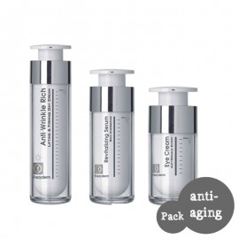 FREZYDERM Anti Ageing Pack 2 με ANTI-WRINKLE RICH DAY CREAM 45 (50ml) +Revitalizing Serum 30ml+ Anti Wrinkle Eye Cream 15ml