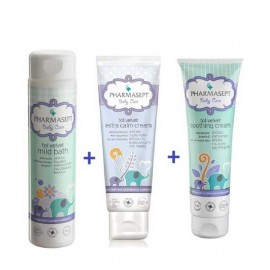 Pharmasept Baby Care ΠΑΚΕΤΟ Tol Velvet Mild Bath 500ml+Tol Velvet Soothing Cream 150ml+Tol Velvet Baby Extra Calm 150ml