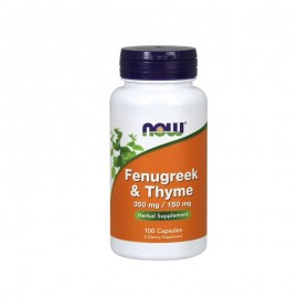 Now foods Fenugreek 350mg & Thyme 150mg (100caps)