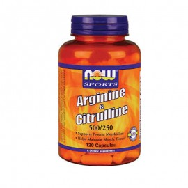 Now Sports Arginine & Citrulline 500/250mg 120caps