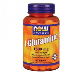 NOW Sports L-Glutamine 1500mg 90tabs
