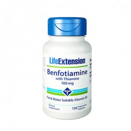 Life Extension Benfotiamine With Thiamine 100mg, 120caps