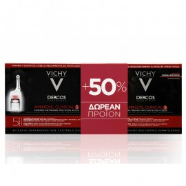 Vichy Dercos Aminexil Clinical 5 PROMO PACK 21 monodoses & ΔΩΡΟ 12 ΕΠΙΠΛΕΟΝ monodoses
