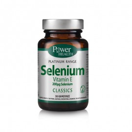 POWER HEALTH Classics Platinum Range Selenium Vitamin E 200μg 30s caps