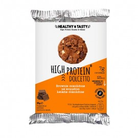 Power Health Healthy & Tasty High Protein Dolcetto, Brownie σοκολάτας με κομμάτια λευκής σοκολάτας 35gr