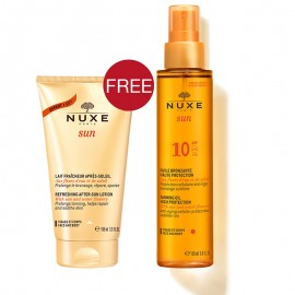 Nuxe Sun promo Tanning Oil SPF10 150ml & Lait After Sun 100ml