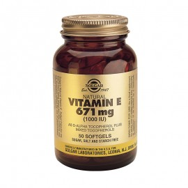 SOLGAR VITAMIN E 1000 IU softgels 50s